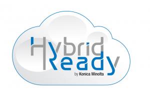 logo hybrid ready Konica Minolta