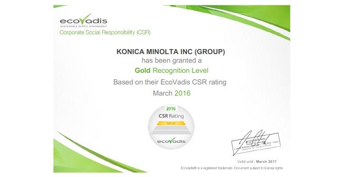 Certification EcoVadis Konica Minolta