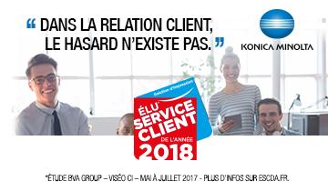 Konica Minolta, élu service client de l'année 2018