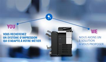 Bénéficiez d'une prime de reprise** sur vos anciens matériels (copieurs, systèmes d'impression, multifonctions, photocopieurs A3, etc.) quels que soient la marque et le modèle pour l'acquisition, ou la location d'un système d'impression Konica Minolta acteur leader de l'impression numérique !